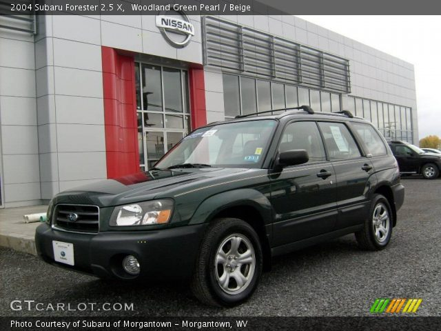 Woodland green pearl 2004 subaru forester 2 5 x beige for Woodland motors used cars