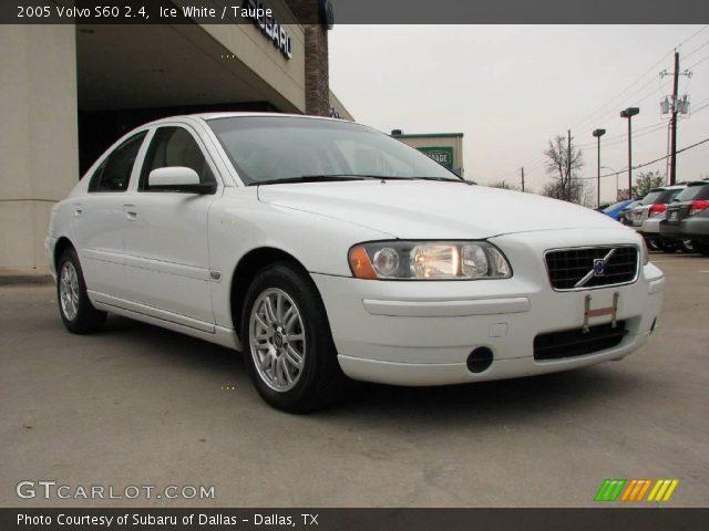 Ice white 2005 volvo s60 2 4 taupe interior gtcarlot com