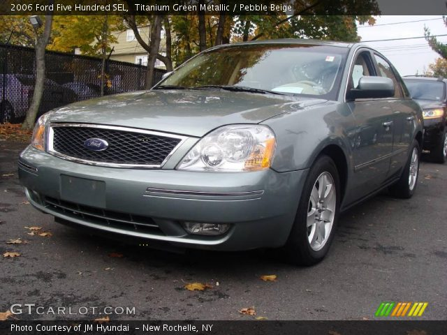 titanium green metallic 2006 ford five hundred sel pebble beige interior. Black Bedroom Furniture Sets. Home Design Ideas