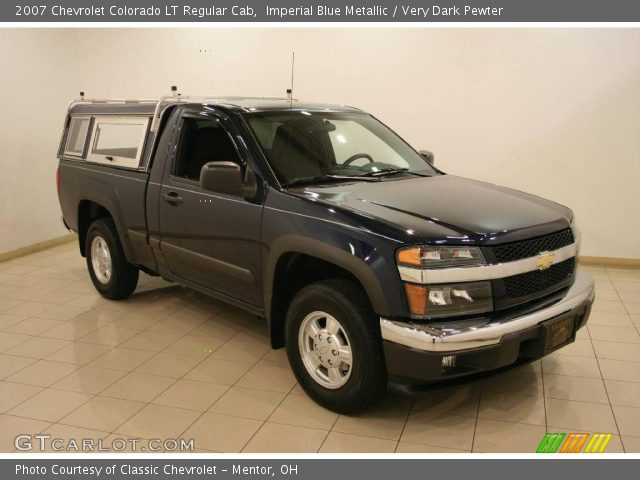imperial blue metallic 2007 chevrolet colorado lt regular cab very dark pewter interior. Black Bedroom Furniture Sets. Home Design Ideas