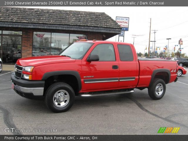sport red metallic 2006 chevrolet silverado 2500hd lt extended cab 4x4 dark charcoal. Black Bedroom Furniture Sets. Home Design Ideas