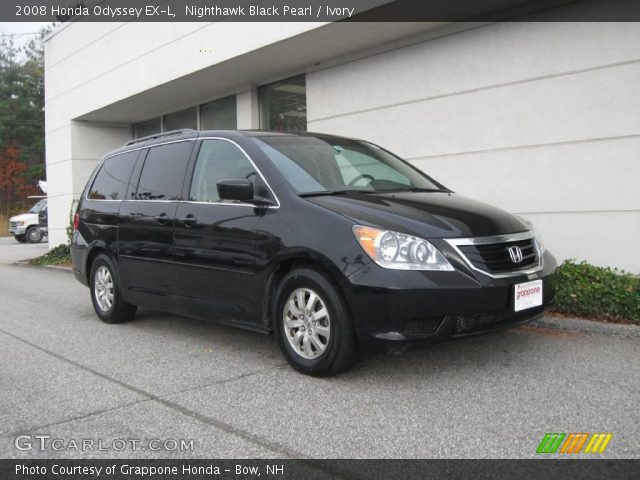 nighthawk black pearl 2008 honda odyssey ex l ivory. Black Bedroom Furniture Sets. Home Design Ideas