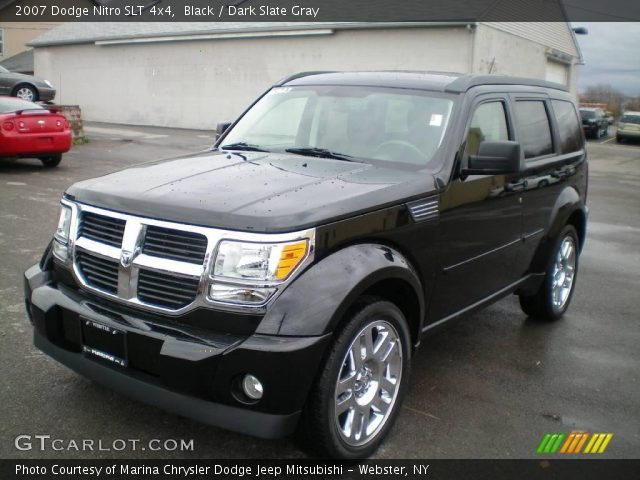 black 2007 dodge nitro slt 4x4 dark slate gray. Black Bedroom Furniture Sets. Home Design Ideas