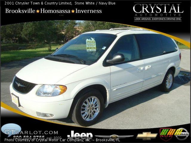 Stone white 2001 chrysler town country limited navy - 2001 chrysler town and country interior ...