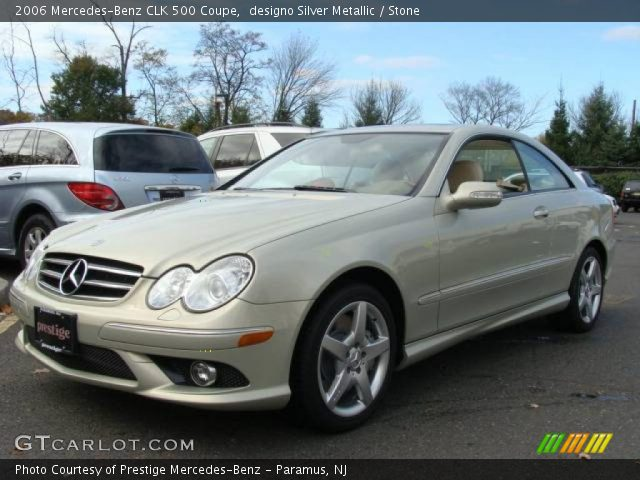 Designo silver metallic 2006 mercedes benz clk 500 coupe for 2006 mercedes benz clk 500