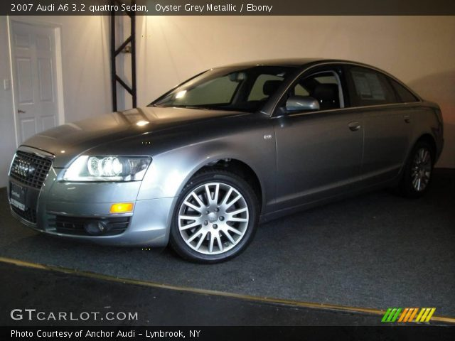 oyster grey metallic 2007 audi a6 3 2 quattro sedan ebony interior vehicle. Black Bedroom Furniture Sets. Home Design Ideas