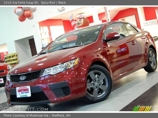 Spicy Red 2010 Kia Forte Koup Ex Black Interior Vehicle Archive 20910933