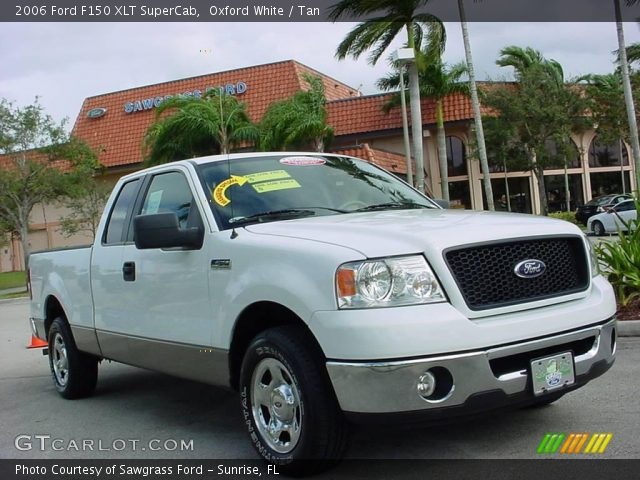 oxford white 2006 ford f150 xlt supercab tan interior. Black Bedroom Furniture Sets. Home Design Ideas