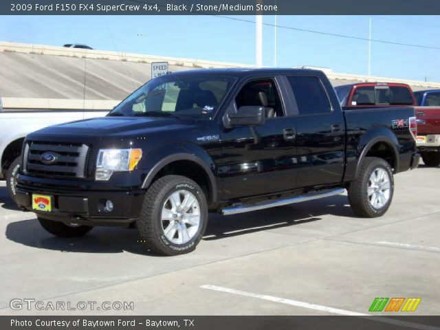 black 2009 ford f150 fx4 supercrew 4x4 stone medium. Black Bedroom Furniture Sets. Home Design Ideas