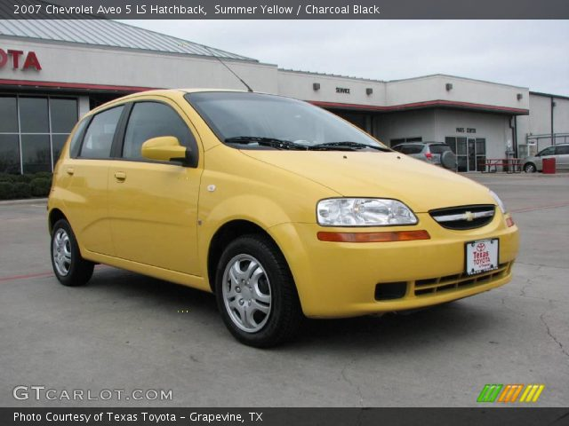 summer yellow 2007 chevrolet aveo 5 ls hatchback. Black Bedroom Furniture Sets. Home Design Ideas