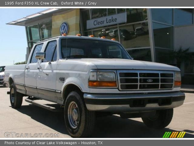 oxford white 1995 ford f350 xl crew cab grey interior vehicle archive 21009532. Black Bedroom Furniture Sets. Home Design Ideas