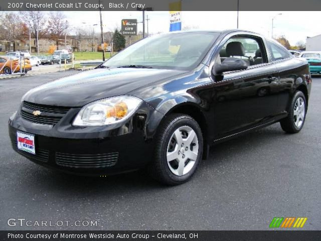 black 2007 chevrolet cobalt lt coupe gray interior. Black Bedroom Furniture Sets. Home Design Ideas