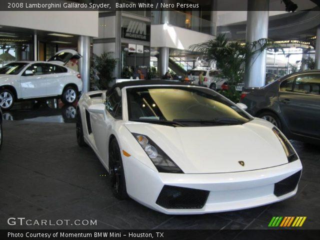 2008 Lamborghini Gallardo Spyder in Balloon White
