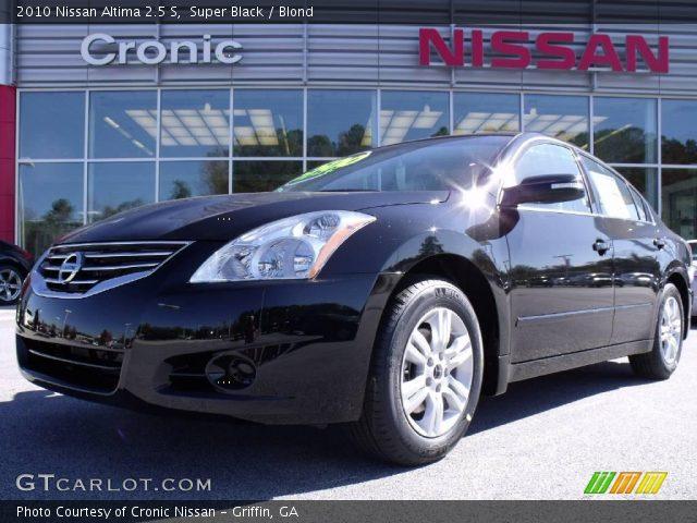 Super Black 2010 Nissan Altima 2 5 S Blond Interior Vehicle Archive 21236572
