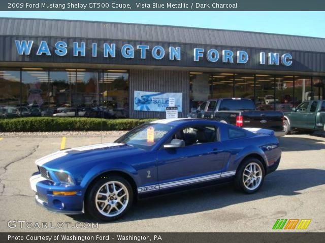 2009 Ford Mustang Blue 2009 Ford Mustang Shelby Gt500