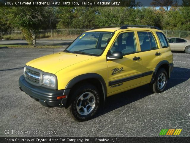 Yellow - 2002 Chevrolet Tracker Lt 4wd Hard Top