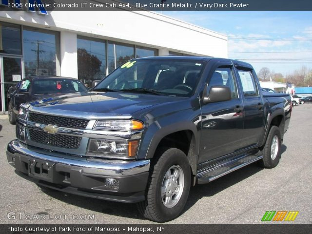 blue granite metallic 2006 chevrolet colorado lt crew cab 4x4 very dark pewter interior. Black Bedroom Furniture Sets. Home Design Ideas