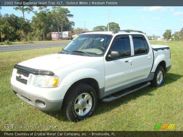 Oxford White 2003 Ford Explorer Sport Trac XLT Medium Pebble Interior G
