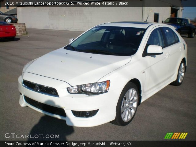 wicked white metallic 2010 mitsubishi lancer sportback gts black interior. Black Bedroom Furniture Sets. Home Design Ideas