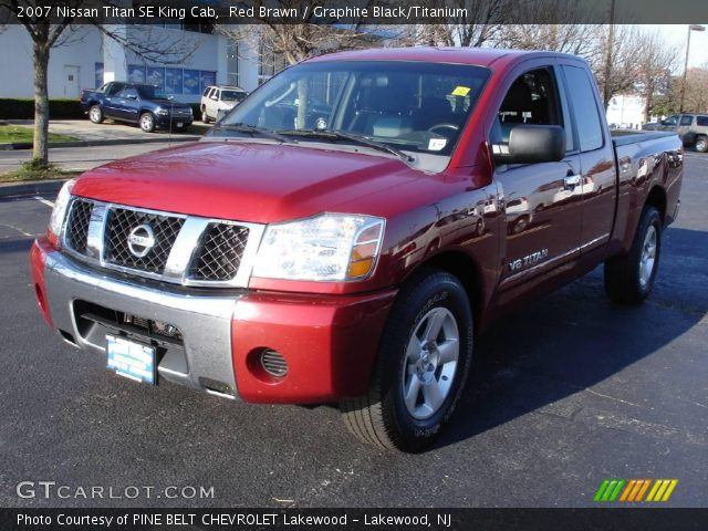 red brawn 2007 nissan titan se king cab graphite black titanium interior. Black Bedroom Furniture Sets. Home Design Ideas