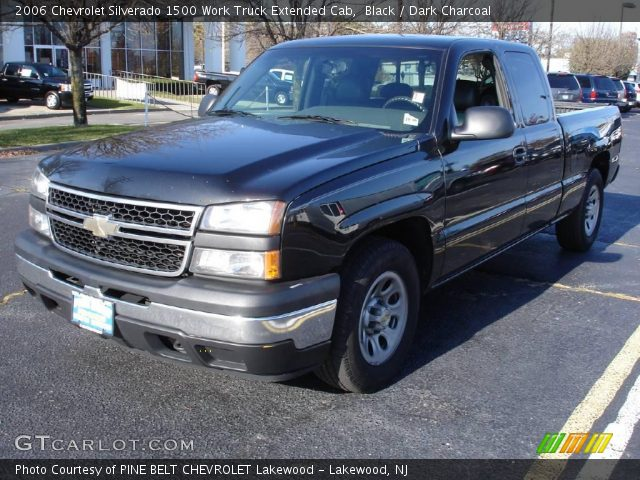 black 2006 chevrolet silverado 1500 work truck extended cab dark charcoal interior. Black Bedroom Furniture Sets. Home Design Ideas