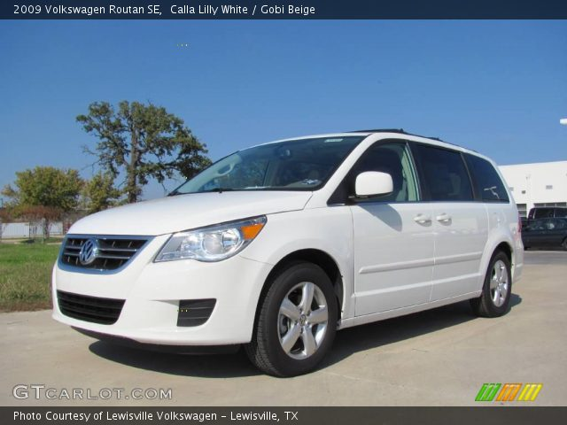 calla lilly white 2009 volkswagen routan se gobi beige. Black Bedroom Furniture Sets. Home Design Ideas
