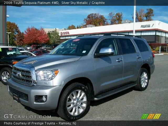 silver sky metallic 2008 toyota sequoia platinum 4wd. Black Bedroom Furniture Sets. Home Design Ideas