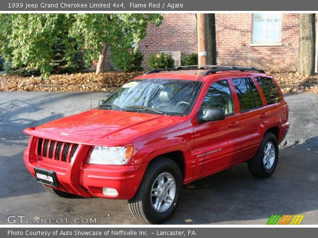 flame red 1999 jeep grand cherokee limited 4x4 agate interior vehicle. Black Bedroom Furniture Sets. Home Design Ideas
