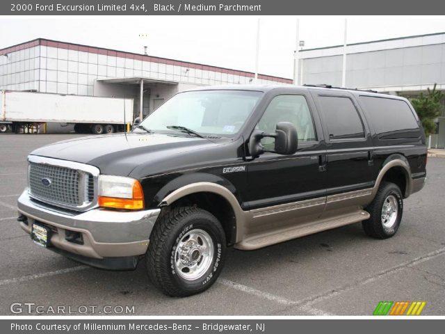 Black - 2000 Ford Excursion Limited 4x4 - Medium Parchment Interior