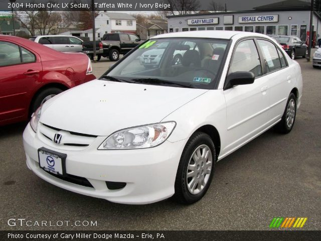 taffeta white 2004 honda civic lx sedan ivory beige