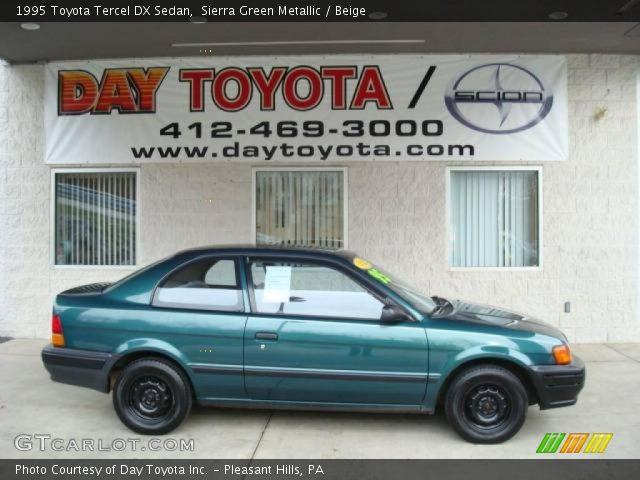 1995 Toyota Tercel DX Sedan in Sierra Green Metallic
