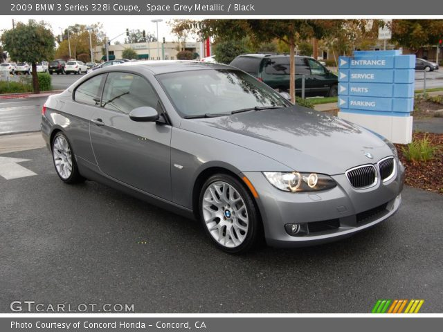 space grey metallic 2009 bmw 3 series 328i coupe black interior vehicle. Black Bedroom Furniture Sets. Home Design Ideas