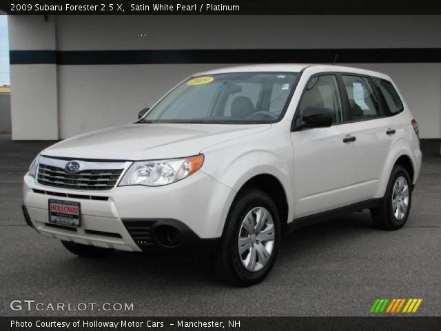 satin white pearl 2009 subaru forester 2 5 x platinum interior vehicle. Black Bedroom Furniture Sets. Home Design Ideas