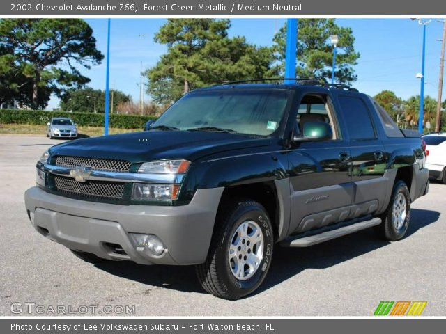 forest green metallic 2002 chevrolet avalanche z66. Black Bedroom Furniture Sets. Home Design Ideas