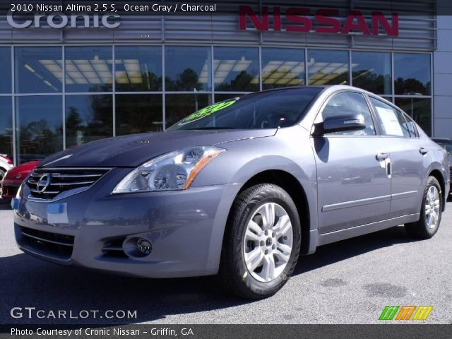 ocean gray 2010 nissan altima 2 5 s charcoal interior vehicle archive 21628907. Black Bedroom Furniture Sets. Home Design Ideas