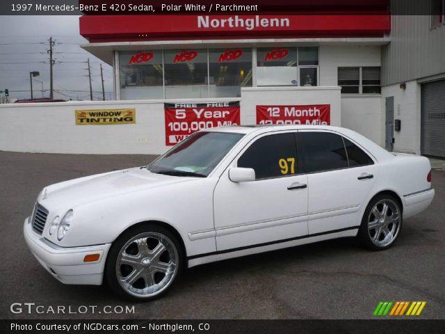 polar white 1997 mercedes benz e 420 sedan parchment interior vehicle. Black Bedroom Furniture Sets. Home Design Ideas