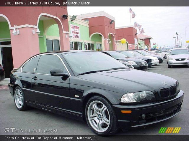 jet black 2003 bmw 3 series 330i coupe black interior vehicle archive 21775673. Black Bedroom Furniture Sets. Home Design Ideas
