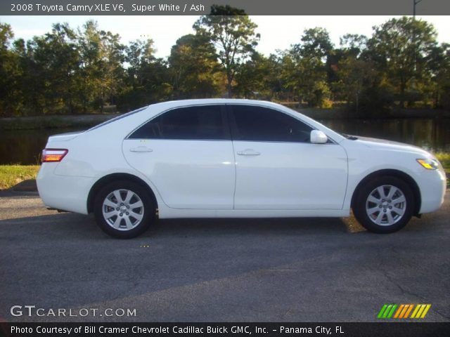 super white 2008 toyota camry xle v6 ash interior vehicle archive 21774981. Black Bedroom Furniture Sets. Home Design Ideas