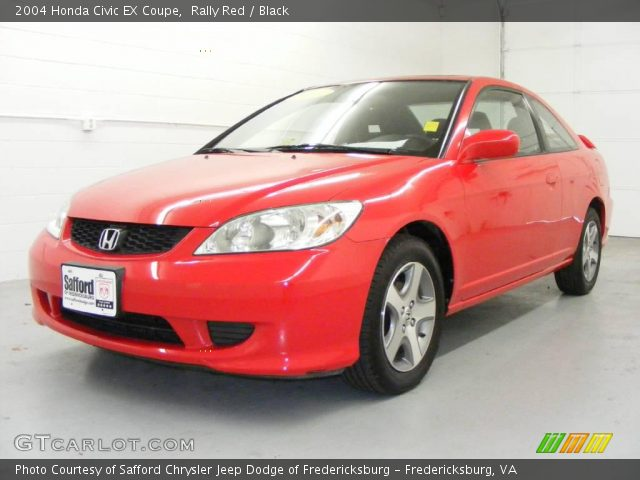 Rally Red 2004 Honda Civic Ex Coupe Black Interior Vehicle Archive 21779105