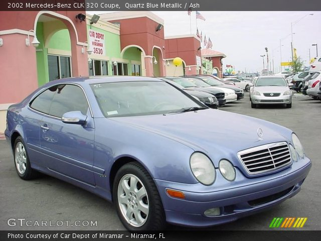 Quartz Blue Metallic 2002 Mercedes Benz Clk 320 Coupe