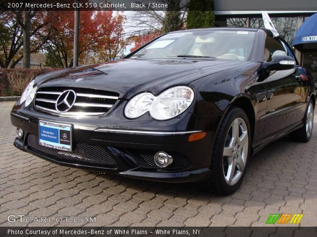 Black 2007 mercedes benz clk 550 cabriolet stone for 2007 mercedes benz clk550