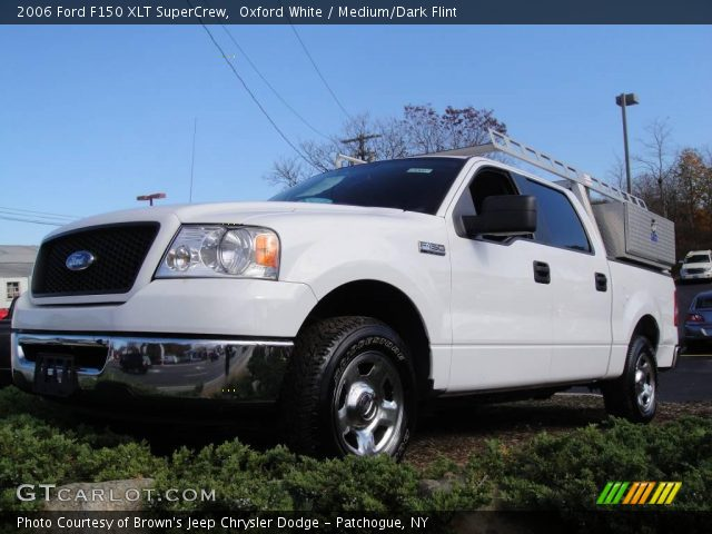 oxford white 2006 ford f150 xlt supercrew medium dark. Black Bedroom Furniture Sets. Home Design Ideas