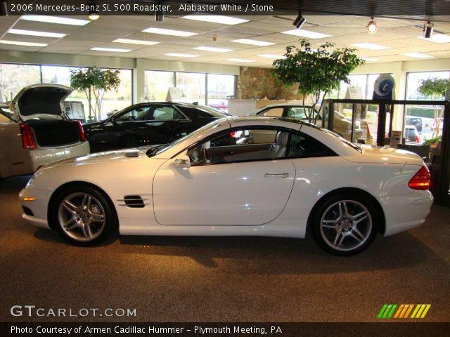 alabaster white 2006 mercedes benz sl 500 roadster stone interior vehicle. Black Bedroom Furniture Sets. Home Design Ideas