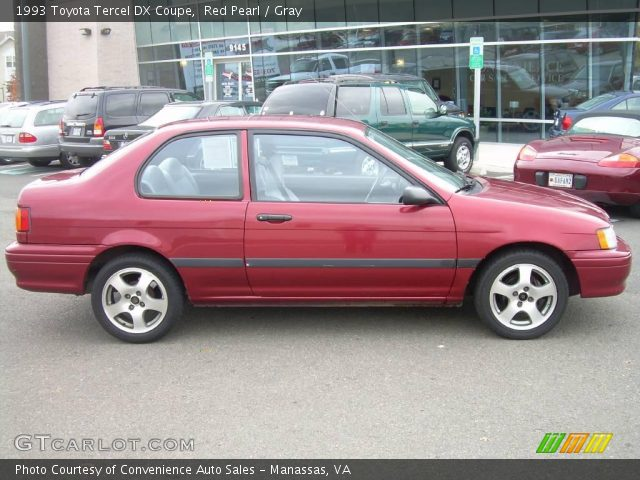 1993 Toyota Tercel DX Coupe in Red Pearl