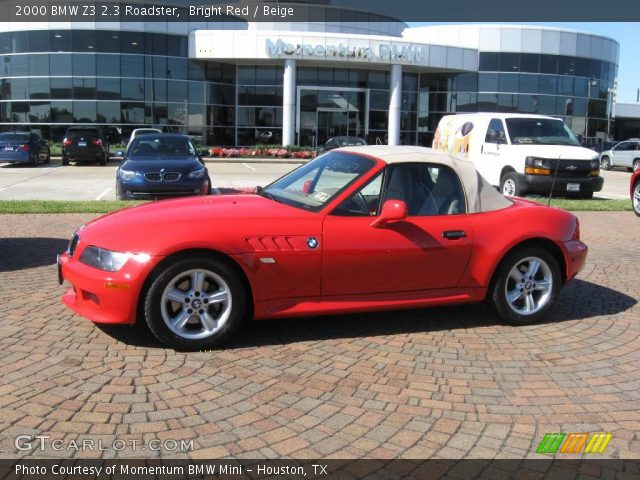 bright red 2000 bmw z3 2 3 roadster beige interior. Black Bedroom Furniture Sets. Home Design Ideas