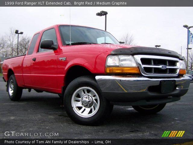 bright red 1999 ford ranger xlt extended cab medium graphite interior. Black Bedroom Furniture Sets. Home Design Ideas