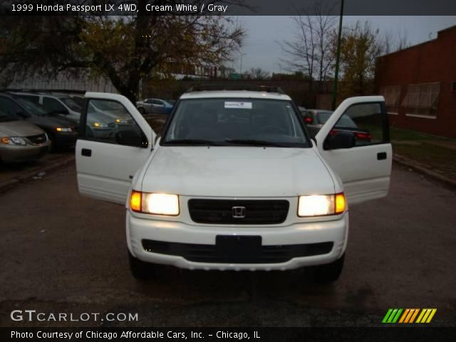 cream white 1999 honda passport lx 4wd gray interior. Black Bedroom Furniture Sets. Home Design Ideas