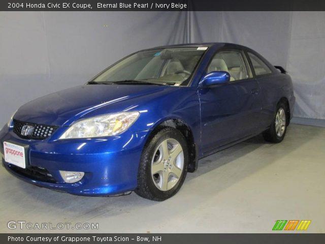 Eternal blue pearl 2004 honda civic ex coupe ivory beige interior vehicle for 2004 honda civic ex coupe interior