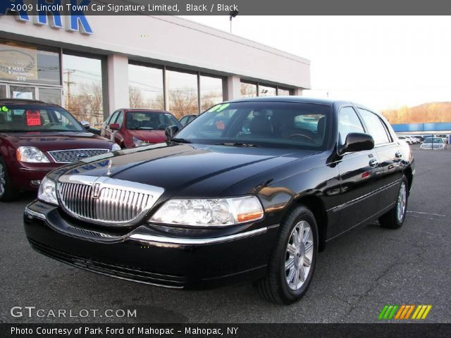 black 2009 lincoln town car signature limited black. Black Bedroom Furniture Sets. Home Design Ideas