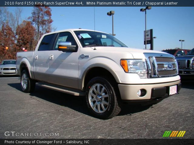 2010 Ford F150 King Ranch SuperCrew 4x4 in White Platinum Metallic Tri Coat